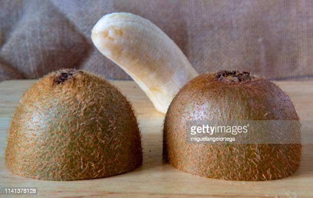 helathy food, healthy life: fruits with humor - foreskin stock pictures, royalty-free photos & images