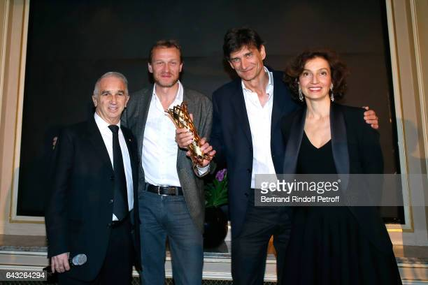 President of Academie des Cesars Alain Terzian Winners of the 'Daniel Toscan du Plantier' Producer's Price Nicolas Altmayer and his brother Eric...