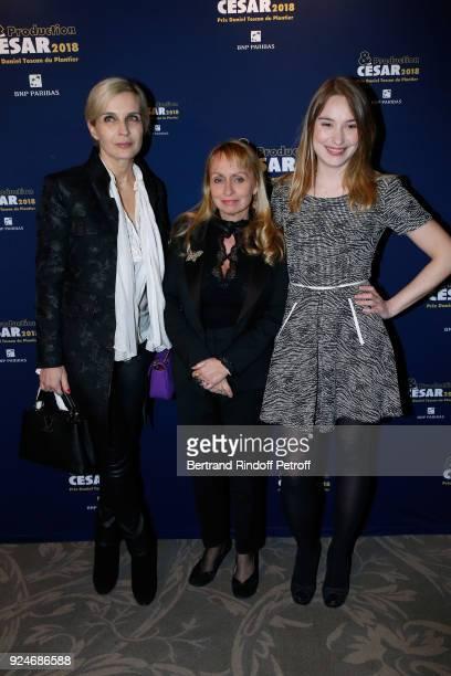 Melita Toscan du Plantier Rosalie Varda and Deborah Francois attend the 'Diner Des Producteurs' Producer's Dinner Cesar 2018 Held at Four Seasons...