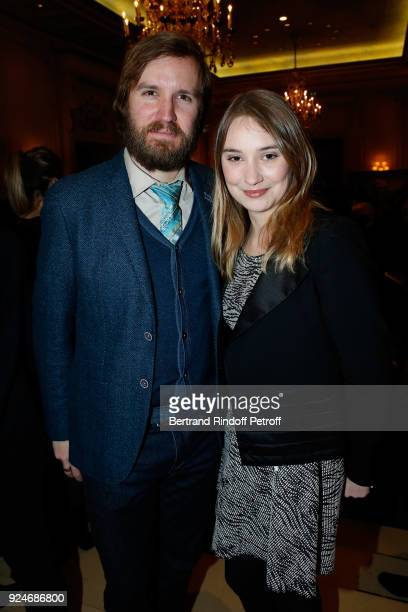 Director Nicolas Bary and actress Deborah Francois attend the 'Diner Des Producteurs' Producer's Dinner Cesar 2018 Held at Four Seasons Hotel George...