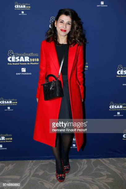 Actress Reem Kherici attends the 'Diner Des Producteurs' Producer's Dinner Cesar 2018 Held at Four Seasons Hotel George V on February 26 2018 in...