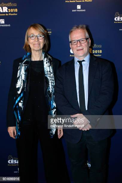French Minister of Culture Francoise Nyssen and General Delegate of the Cannes Film Festival Thierry Fremaux attend the 'Diner Des Producteurs'...