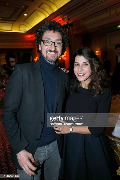Director David Foenkinos and Reem Kherici attend the 'Diner Des Producteurs' Producer's Dinner Cesar 2018 Held at Four Seasons Hotel George V on...
