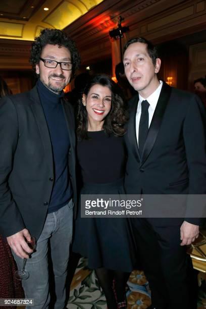 Director David Foenkinos Actress Reem Kherici and Director Stephane Foenkinos attend the 'Diner Des Producteurs' Producer's Dinner Cesar 2018 Held at...