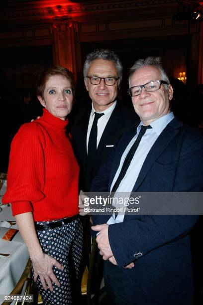 Ariane Toscan du Plantier JeanFrancois Camilleri and General Delegate of the Cannes Film Festival Thierry Fremaux attend the 'Diner Des Producteurs'...
