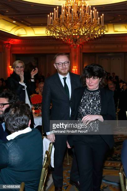 CoProducer of the movie 120 Battement par minute Hughues Charbonneau and Winner of the Daniel Toscan du Plantier Producer's Price MarieAnge Luciani...