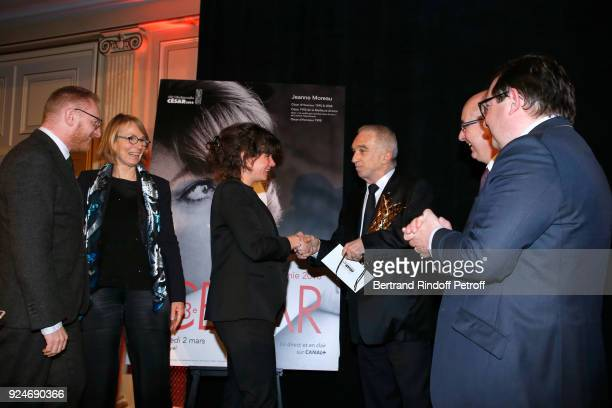 CoProducer of the movie 120 Battement par minute Hughues Charbonneau French Minister of Culture Francoise Nyssen Winner of the Daniel Toscan du...