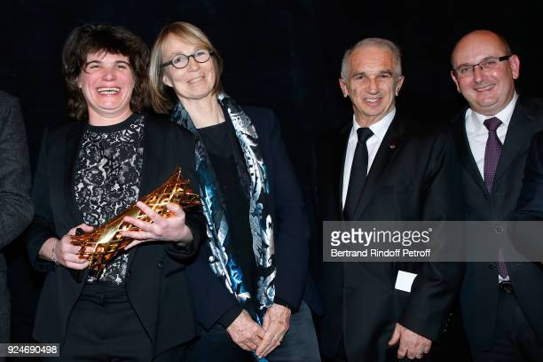 Winner of the Daniel Toscan du Plantier Producer's Price MarieAnge Luciani for 120 Battement par minute French Minister of Culture Francoise Nyssen...