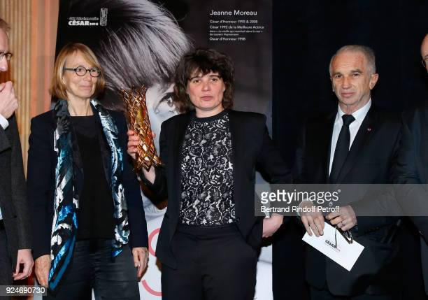 French Minister of Culture Francoise Nyssen Winner of the Daniel Toscan du Plantier Producer's Price MarieAnge Luciani for 120 Battement par minute...