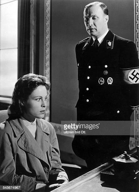 Held Martin Actor Germany * Scene from the movie 'Canaris' with Barbara Rütting Directed by Alfred Weidenmann West Germany 1954 Produced by FamaFilm...