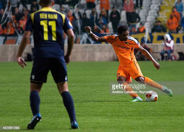 Helder Cabral of Apoel FC in action during the UEFA Europa League Group F match against Maccabi TelAviv FC on November 28 2013 in Nicosia Cyprus