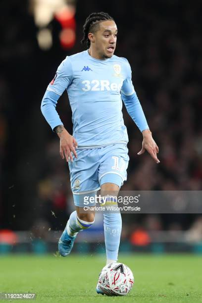 Helder Costa of Leeds during the FA Cup Third Round match between Arsenal and Leeds United at Emirates Stadium on January 6 2020 in London England