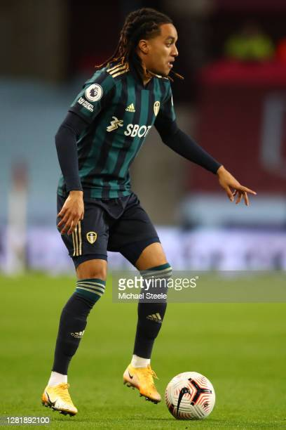 Helder Costa of Leeds United during the Premier League match between Aston Villa and Leeds United at Villa Park on October 23 2020 in Birmingham...
