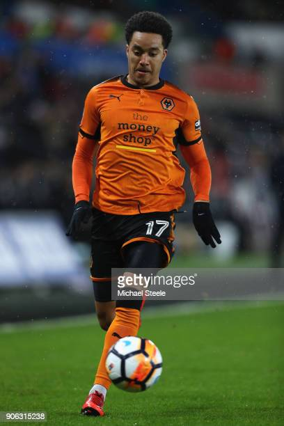 Helder Costa of Wolverhampton Wanderers during the Emirates FA Cup third round replay match between Swansea City and Wolverhampton Wanderers at the...