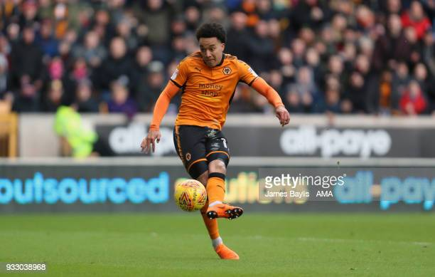 Helder Costa of Wolverhampton Wanderers scores a goal to make it 10 during the Sky Bet Championship match between Wolverhampton Wanderers and Burton...