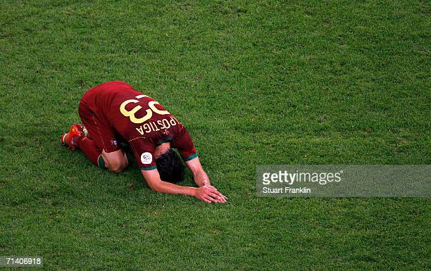 Helder Postiga of Portugal looks dejected during the FIFA World Cup Germany 2006 Semi-final match between Portugal and France at the Stadium Munich...