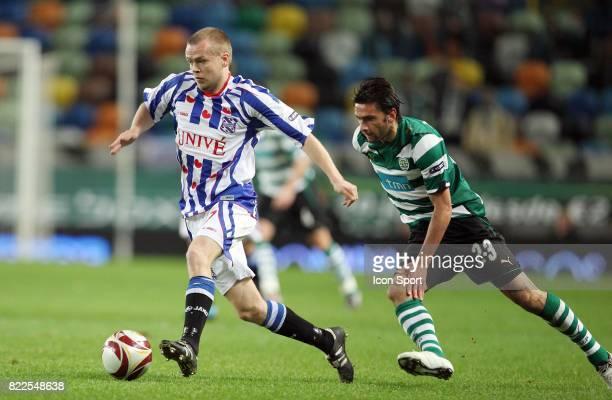 Helder Postiga / Viktor Elm Sporting Portugal / Heerenveen Europa League 5eme Journee Satde Jose Alvalade Lisbonne Portugal