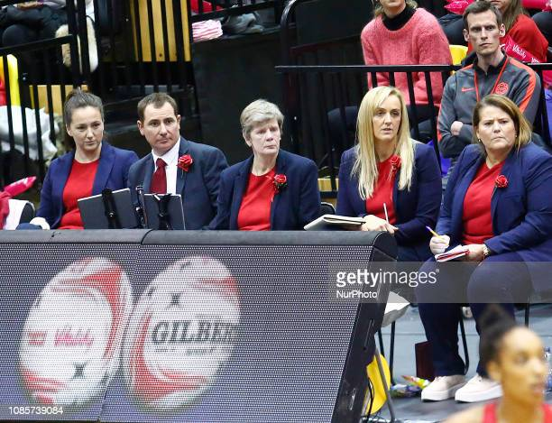 LR Helen Alfano Performance Lifestyle Advisor Paul Dring manager Colette Thomson Performance coach Tracey Neville Head Coach and Tania Obst Assistant...