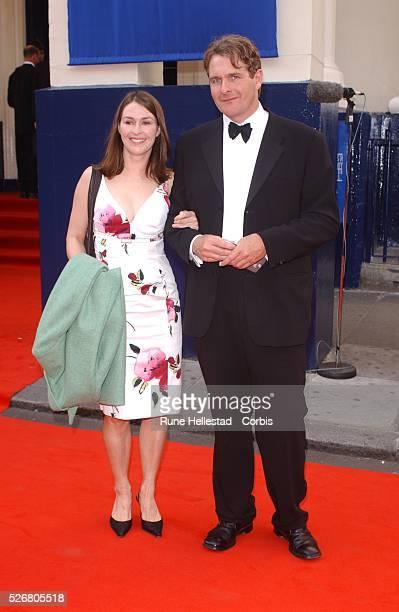 Helen Baxendale and Robert Bathurst arrive at the Bafta TV Awards.