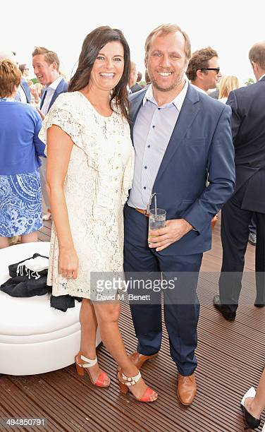 Helen Bowen-Green and Dean Andrews attend day one of the Audi Polo Challenge at Coworth Park Polo Club on May 31, 2014 in Ascot, England.