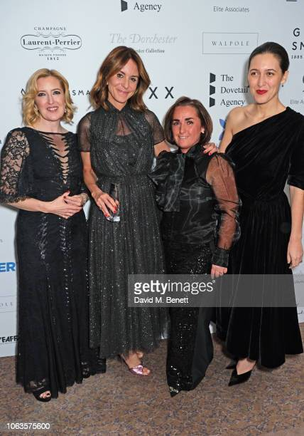 Helen Brocklebank Alison Loehnis Margaret Sweeney and Emilia Wickstead attend the Walpole British Luxury Awards 2018 at The Dorchester on November 19...