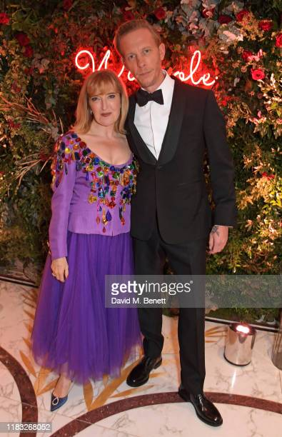Helen Brocklebank and Laurence Fox attend the Walpole British Luxury Awards 2019 at The Dorchester on November 18 2019 in London England