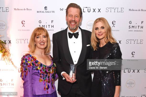 Helen Brocklebank Stefan Sielaff accepting the Luxury Maker of the Year award on behalf of Bentley and Donna Air attend the Walpole British Luxury...