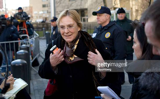 Helen Chaitman a victim who lost money through investing with Bernard Madoff founder of Bernard L Madoff Investment Securities LLC speaks to the...