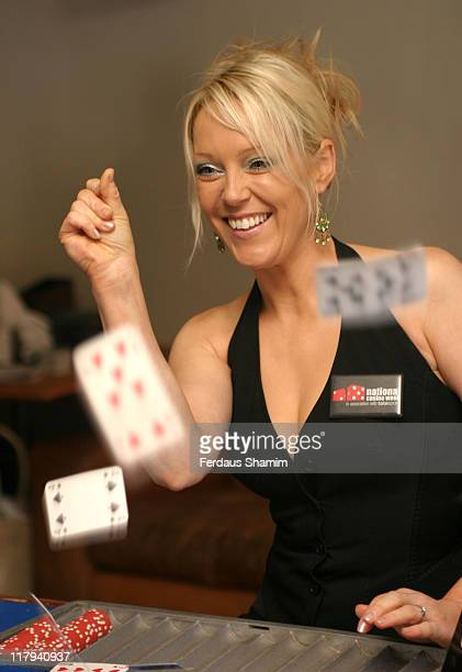 Helen Chamberlain during Helen Chamberlain Helps Launch National Casino Week at The Whitehouse Bar in London Great Britain