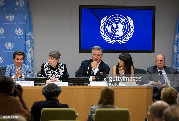Helen Clark , Administrator of the UN Development Programme , addresses a press briefing to announce the winners of the 2015 Equator Prize, which...