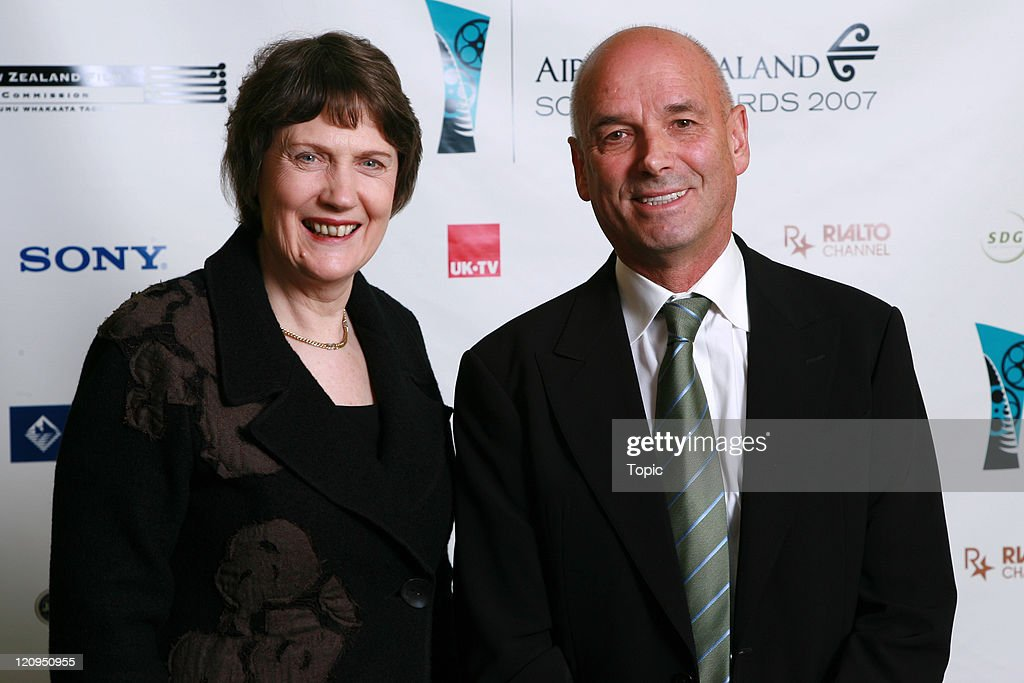 Helen Clark & Martin Campbell pose back stage on August 1, 2007 in Auckland, New Zealand.