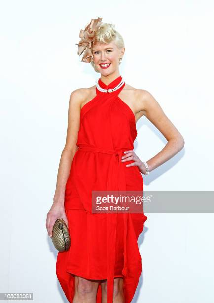 Helen Coghill, the Face of Caulfield attends Caulfield Guineas Day at Caulfield Racecourse on October 9, 2010 in Melbourne, Australia.