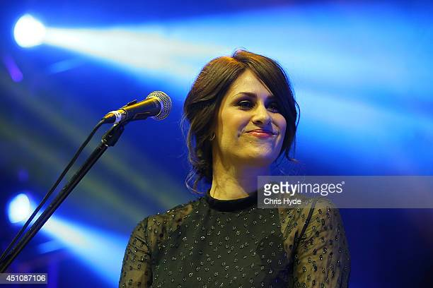 Helen Croome from Gossling performs during the APRA Awards at Brisbane City Hall on June 23 2014 in Brisbane Australia