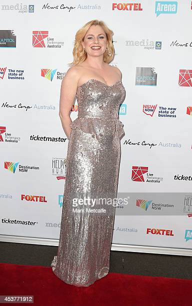Helen Dallimore arrives at the 2014 Helpmann Awards at the Capitol Theatre on August 18 2014 in Sydney Australia