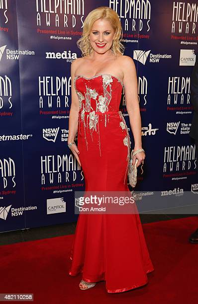 Helen Dallimore arrives at the 2015 Helpmann Awards at the Capitol Theatre on July 27 2015 in Sydney Australia