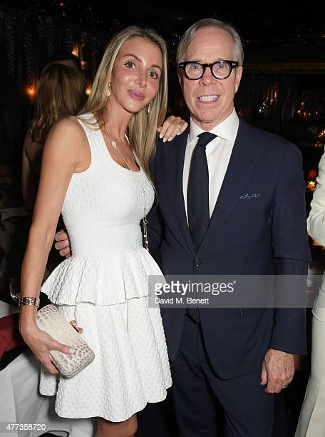 Helen David and Tommy Hilfiger attend the Walkabout Foundation Event hosted by Dee Ocleppo And Tommy Hilfiger at Loulou's at 5 Hertford Street on...