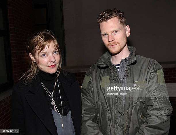 Helen Davies and Ryan Hooker attend Gallery 151 special preview of Nolita Three Decades at 199 Mott on April 14 2015 in New York City