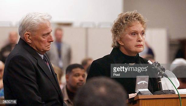 Helen Dexter mother of Green River Killer victim Constance Naon speaks at the sentencing of Gary Ridgway in King County Washington Superior Court...