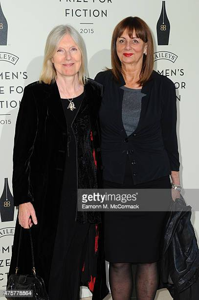 Helen Dunmore and guest arrive to celebrate the 2015 Baileys Women's Prize for Fiction at London's Royal Festival Hall on Wednesday 3 June 2015 in...