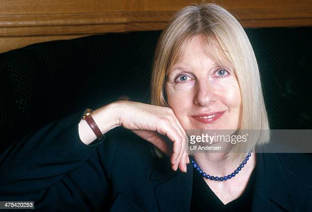 Helen Dunmore English writer poses during portrait session held on January 12 1998 in Paris France