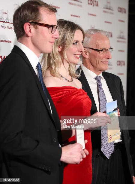 Helen Dunmore winner of the Costa Book Award for Inside The Wave collected by her son Patrick Charnley daughter Tess Charnley and husband Francis...