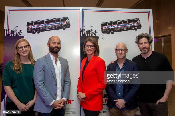 Helen Eastabrook producer Jay Carson screenwriter Kasie Hunt NBC News Matt Bali screenwriter and Jason Reitman director/writer at the Smithsonian...