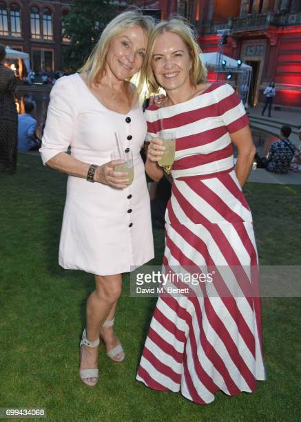 Helen Fielding and Mariella Frostrup attend the 2017 annual VA Summer Party in partnership with Harrods at the Victoria and Albert Museum on June 21...