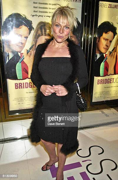 """Helen Fielding attends the UK Premiere of """"Bridget Jones's Diary"""" at the Empire Leicester Square followed by the party at Mezzo on April 5, 2001 in..."""