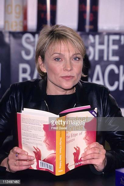 Helen Fielding during Helen Fielding singing copies of Bridget Jones Diary at Waterstones in London at Waterstones in London, United Kingdom.