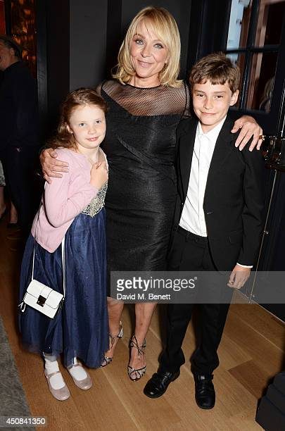 Helen Fielding with children Romy and Dashiell attend a cocktail party hosted by Helen Fielding celebrating the millionth copy of her book Bridget...