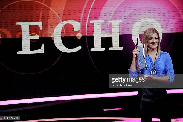 Helen Fischer attends the photocall echo award 2013 host and show at the Palais am Funkturm on March 20 2013 in Berlin Germany