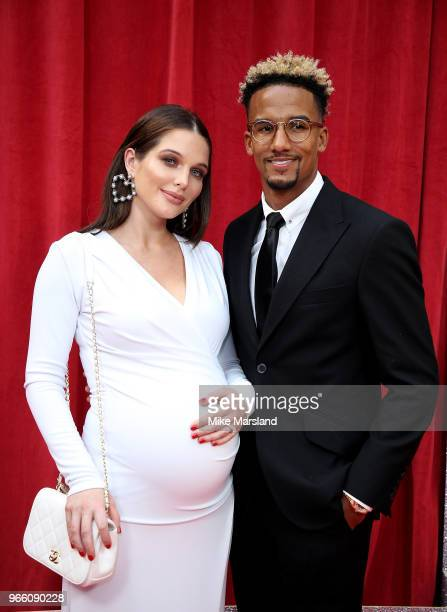 Helen Flanagan and Scott Sinclair attend the British Soap Awards 2018 at Hackney Empire on June 2 2018 in London England