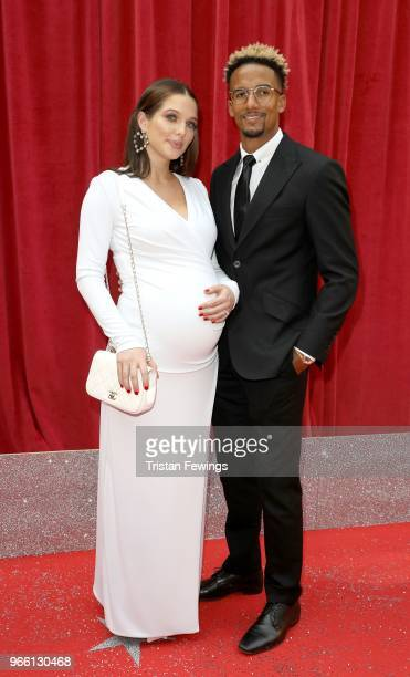 Helen Flanagan and Scott Sinclair attends the British Soap Awards 2018 at Hackney Empire on June 2 2018 in London England