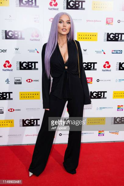 Helen Flanagan attends British LGBT Awards 2019 at Marriott Hotel Grosvenor Square on May 17 2019 in London England